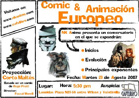 Cómic y animación europeos